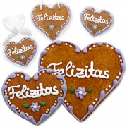 Place card gingerbread heart Felizitas wedding set