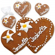Place Cards Wedding Set Isabella gingerbread heart