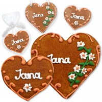 Gingerbread heart 8cm or 12cm Place Card Jana
