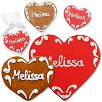 Set Melissa Place Card Gingerbread Heart 8cm 12cm