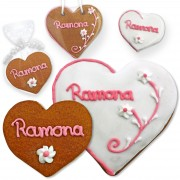 Ramona Place Card Gingerbread heart 8cm or 12cm
