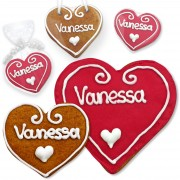 Place Card Vanessa gingerbread heart 8cm 12cm