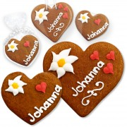 Gingerbread heart Johanna sizes 8 and 12cm