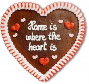 Home is where the heart is - Lebkuchenherz 23cm
