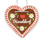 I love Düsseldorf - Gingerbread Heart 12cm