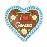 I love Geneva - Gingerbread Heart 12cm
