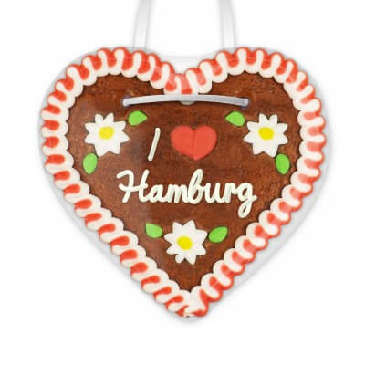 I love Hamburg - Gingerbread Heart 12cm
