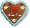 I love München - Gingerbread Heart 12cm