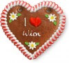 I love Wien - Gingerbread Heart 12cm