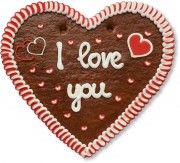 I love you - Gingerbread Heart XXL 50cm