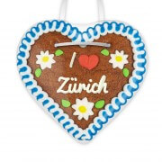I love Zürich - Gingerbread Heart 12cm
