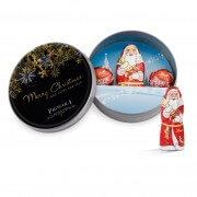Printed Christmas tins, filled