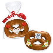 Mini gingerbread Pretzel, 8cm - optional with Logo