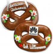 Gingerbread Pretzel, 28cm - optional with Logo