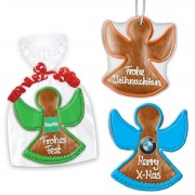 Angel made of gingerbread optional with Logo, 20cm