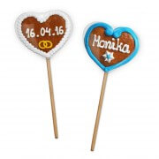 Gingerbread Heart Lolli - Customized, 8cm