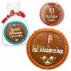 Gingerbread round form 20cm - optionally with Logo