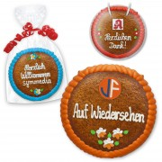 Lebkuchen in runder Form 20cm - optional mit Logo