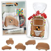 Gingerbread vehicles do-it-yourself kit - incl. customized card and logo optional