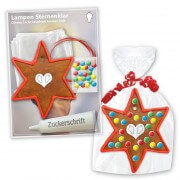 Individual crafting Kits - gingerbread star with border, red