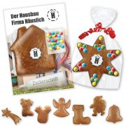Individual gingerbread do-it-yourself kits - Various Christmas shapes