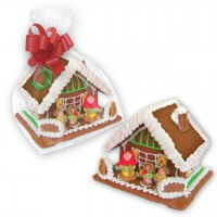 Gingerbread house printed with logo - large
