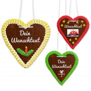 Individual gingerbread heart 21cm with text and photo, christmas edition