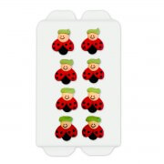 Sugar decoration ladybug, 8 pieces