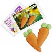 Sugar carrots with customized promotional insert