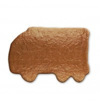 Gingerbread truck to paint yourself, 20cm