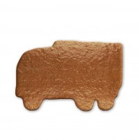 Gingerbread truck to write on, 24cm