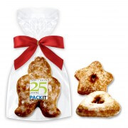 Mixed gingerbread figures, single packed - Logo optional