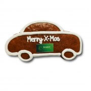 Gingerbread-car individual, ca. 18cm - optional with logo