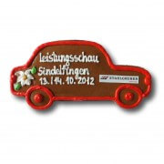 Gingerbread-car - Retro individual, 23cm - optional with logo