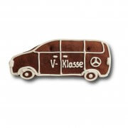 Gingerbread-car-Van individual, ca. 18cm - optional with logo