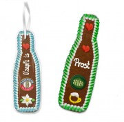 Gingerbread Beer Bottle, 22cm - optional with Logo