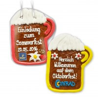 Gingerbread Beer Mug, 18cm - optional with Logo