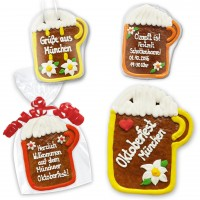Individual Gingerbread beer mug 18cm as a give-away