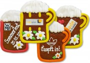 Gingerbread Beer Mug, 12cm - optional with Logo