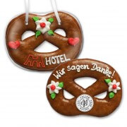 Gingerbread Pretzel, 15cm - optional with Logo