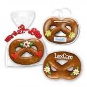 Gingerbread Pretzel, 20cm - optional with Logo