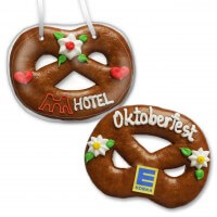 Gingerbread Pretzel, 12cm - optional with Logo