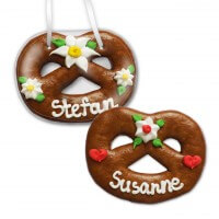 Lebkuchen Pretzel placement card, 12cm