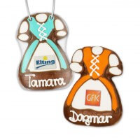 Gingerbread Dirndl, 11cm - optional with Logo