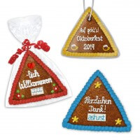 Gingerbread Triangle 15cm - optional with logo