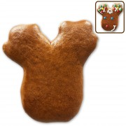 Gingerbread moose head blank for decorating yourself, 10cm