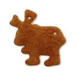 Gingerbread Moose blank, 12cm