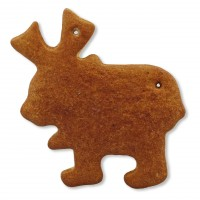 Gingerbread Moose blank, 15cm