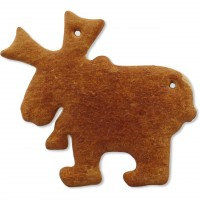 Gingerbread Moose blank, 22cm