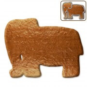 Gingerbread elephant blank, 12 cm